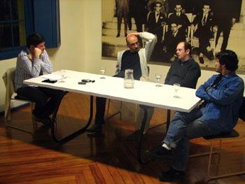 Julio Daio Borges, Sérgio Rodrigues, Paulo Polzonoff Jr. e Jonas Lopes em foto de Tais Laporta