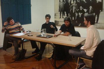 Julio Daio Borges, Evandro Buccini, Guilherme Werneck e Michel Lent em foto de Verônica Mambrini
