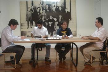 Julio Daio Borges, André Garcia, Cristiano Dias e Edney Souza em foto de Verônica Mambrini