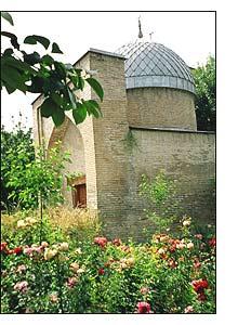 Uma pequena mesquita no coração da cidade velha de Tashkent