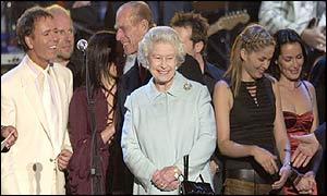 Elizabeth II no show de Jubileu
