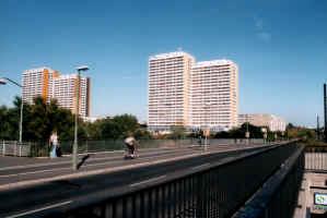 Conjunto habitacional em Berlin Leste
