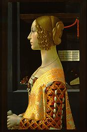A comportada Giovanna de Domenico Ghirlandaio