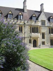 O St. Cross College, onde estou hospedado