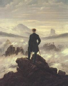 Caspar David Friedrich, The Pilgrim above Mist, 1818
